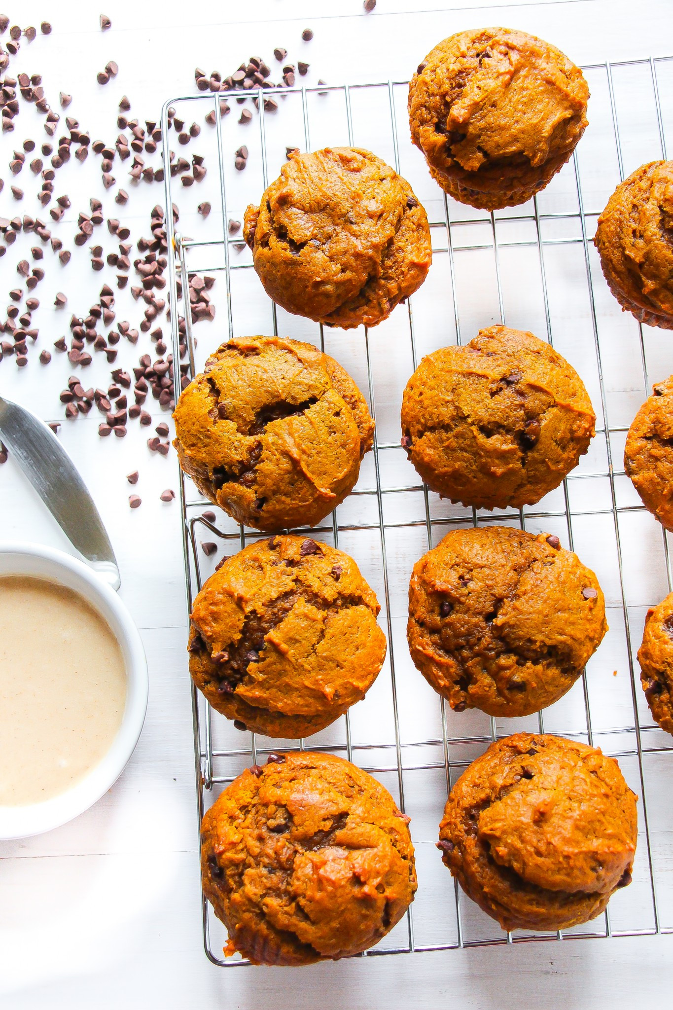 Chocolate Pumpkin Muffins  Best Ever Pumpkin Chocolate Chip Muffins with Browned