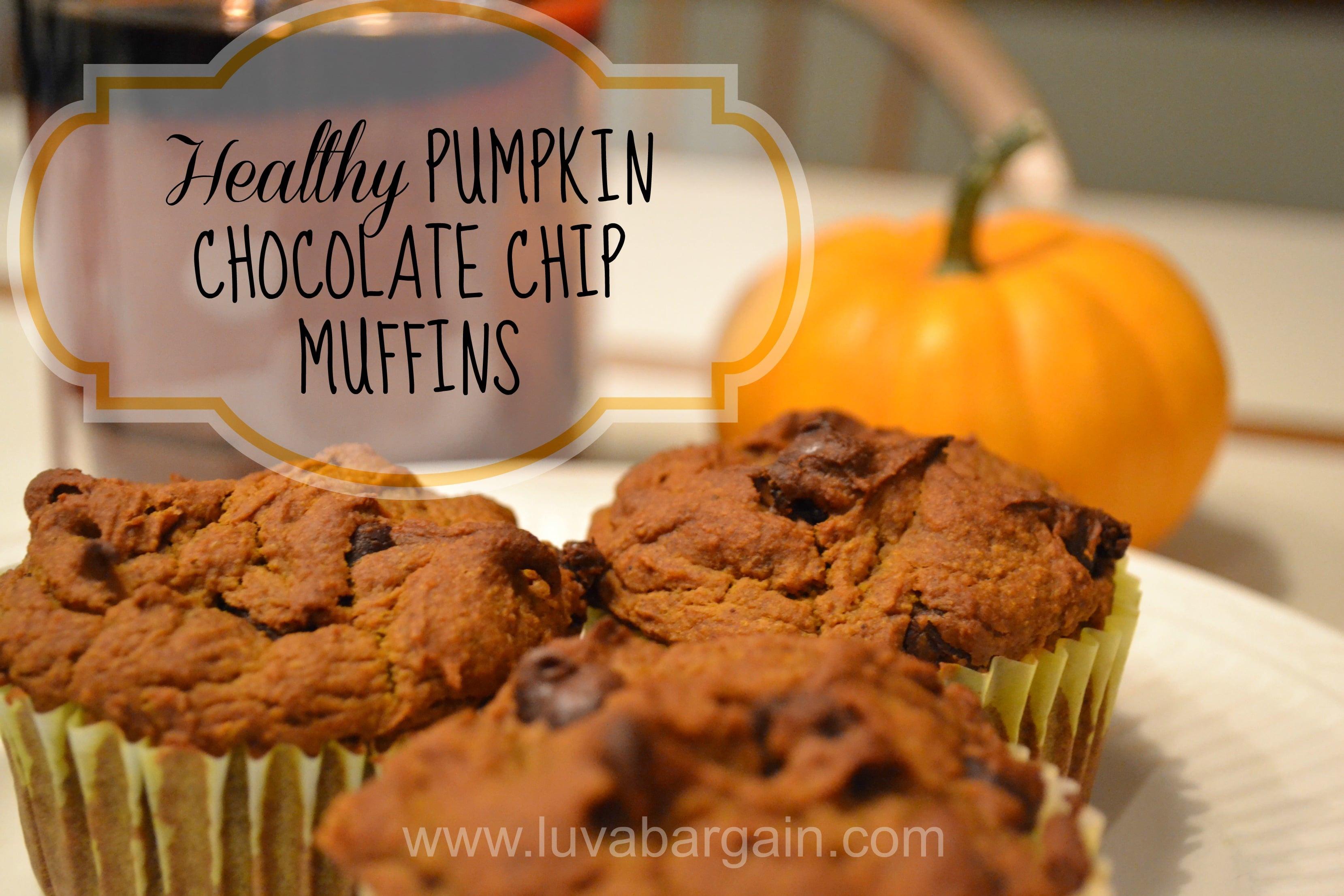 Chocolate Pumpkin Muffins  Healthy Pumpkin Chocolate Chip Muffins