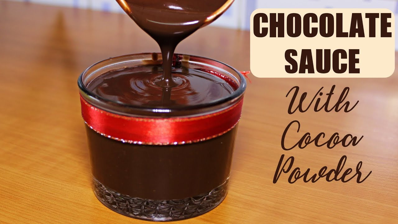 Chocolate Sauce With Cocoa Powder  Chocolate Sauce Recipe with Cocoa Powder