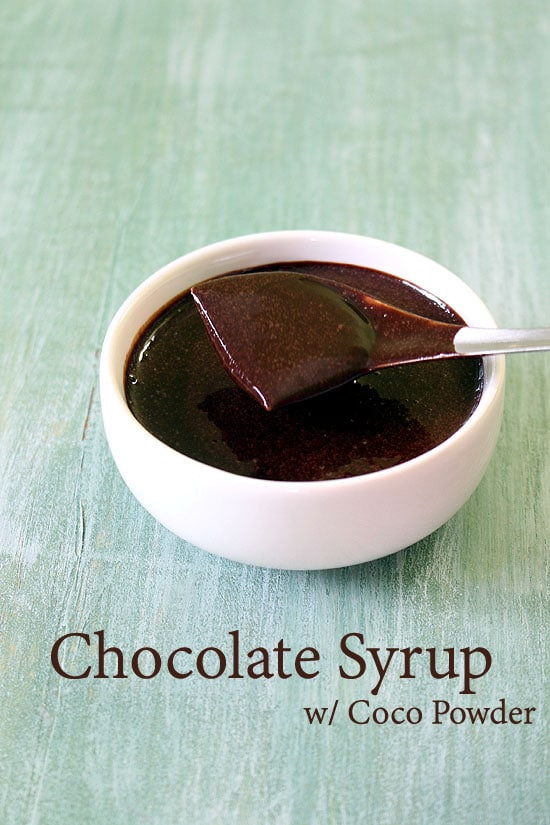 Chocolate Sauce With Cocoa Powder  Chocolate Sauce Recipe Chocolate Syrup Recipe with Cocoa