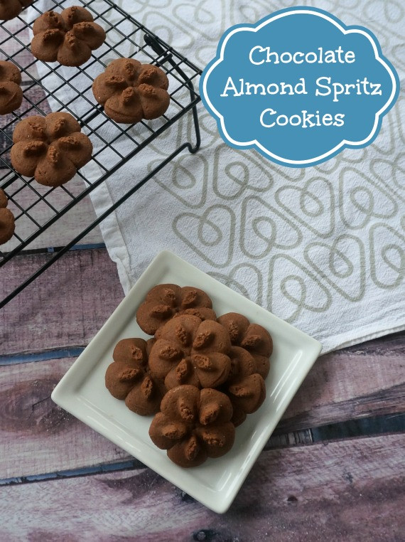 Chocolate Spritz Cookies  Chocolate Almond Spritz Cookies – My Happy Accident