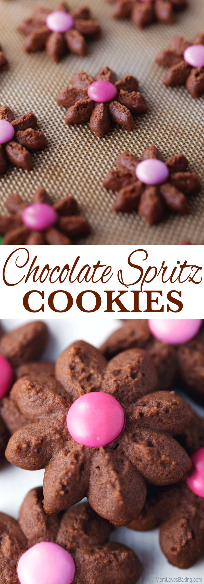 Chocolate Spritz Cookies  Chocolate Spritz Cookies Mom Loves Baking