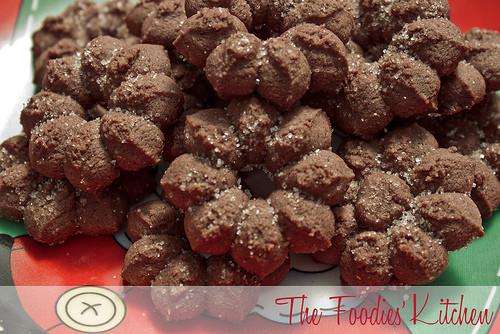 Chocolate Spritz Cookies  Spicy Molasses Chocolate Spritz Cookies