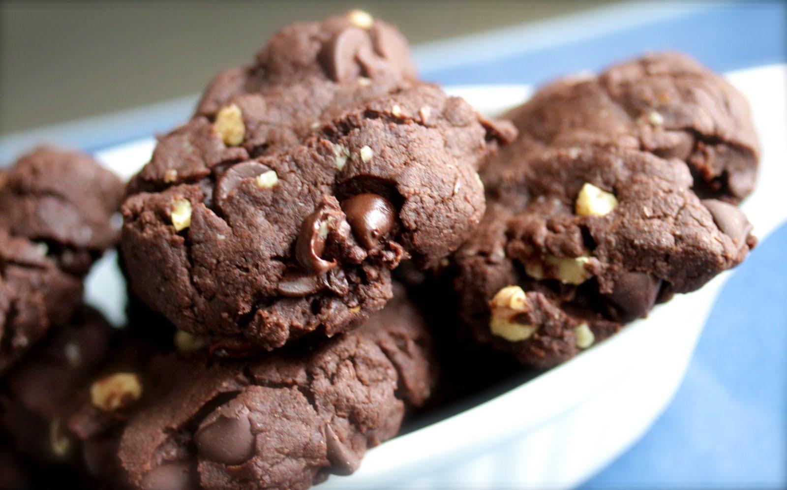 Chocolate Walnut Cookies  Smith s Vegan Kitchen Chocolate Chocolate Chip Walnut