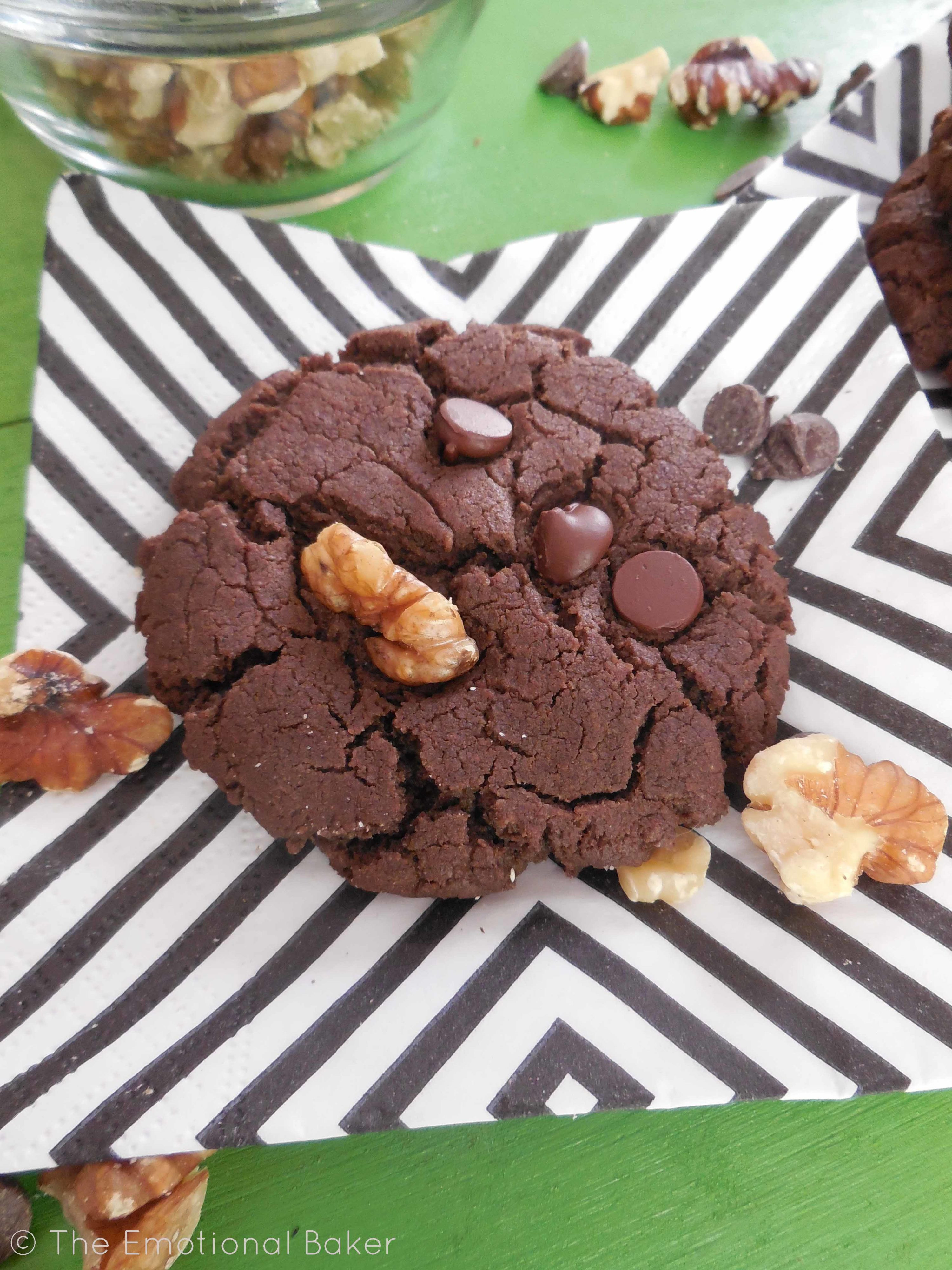 Chocolate Walnut Cookies  Double Chocolate Walnut Cookies