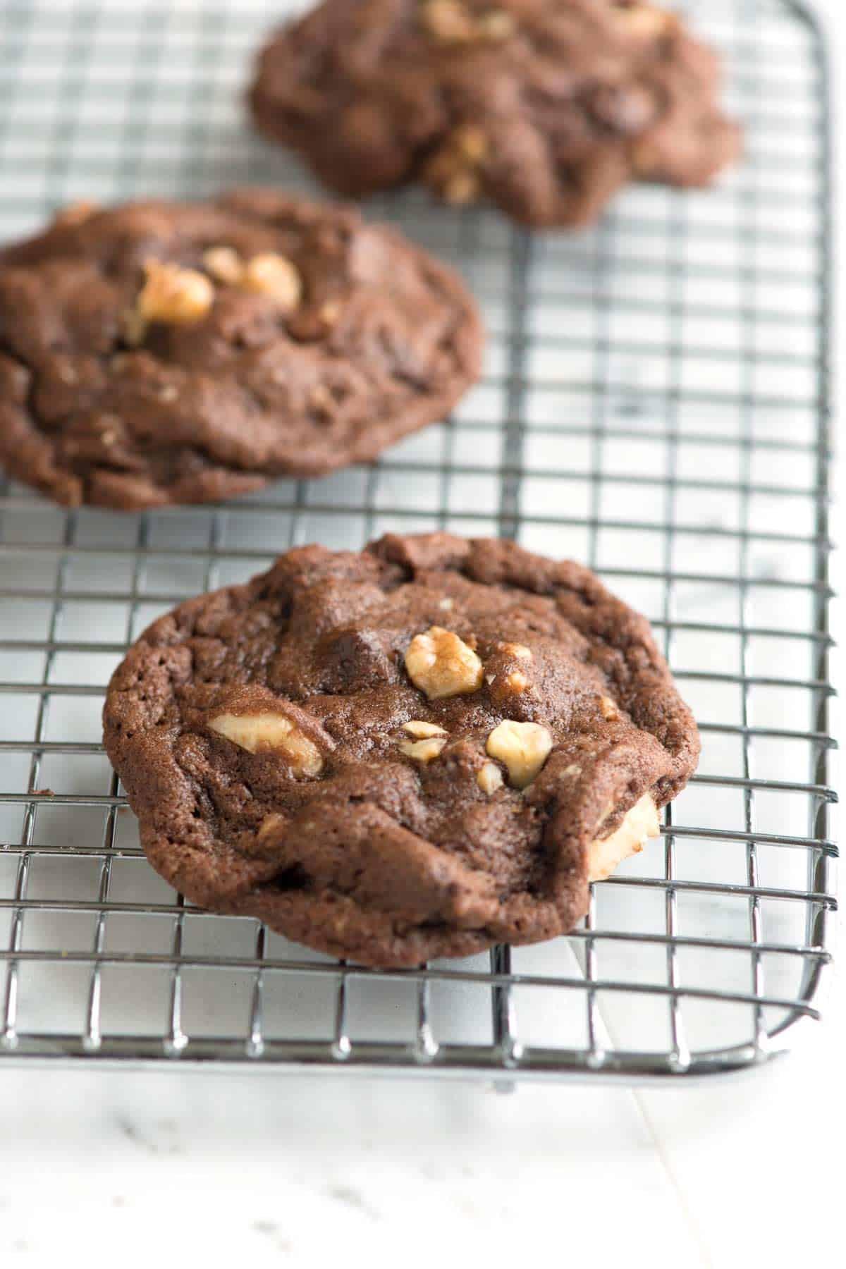 Chocolate Walnut Cookies  Easy Double Chocolate Walnut Cookies Recipe
