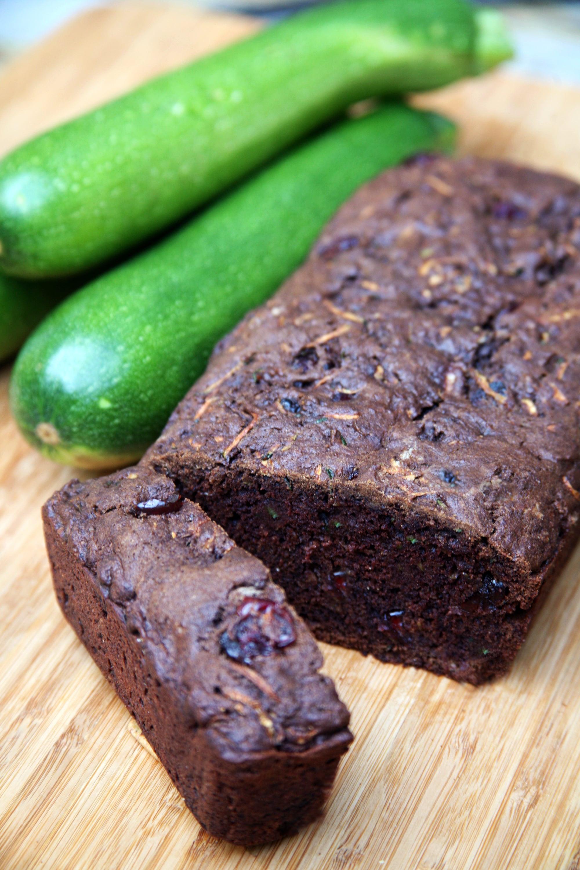 Chocolate Zucchini Bread  Vegan Chocolate Cranberry Zucchini Bread Recipe