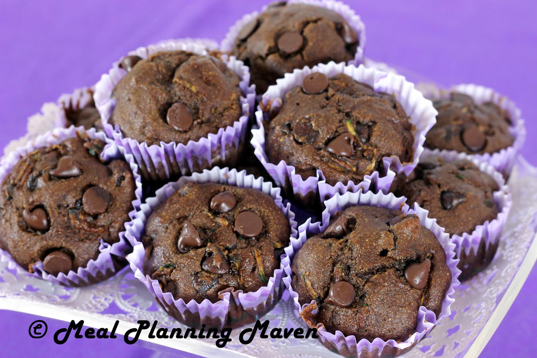 Chocolate Zucchini Muffins  Double Chocolate Zucchini Muffins Meal Planning Maven