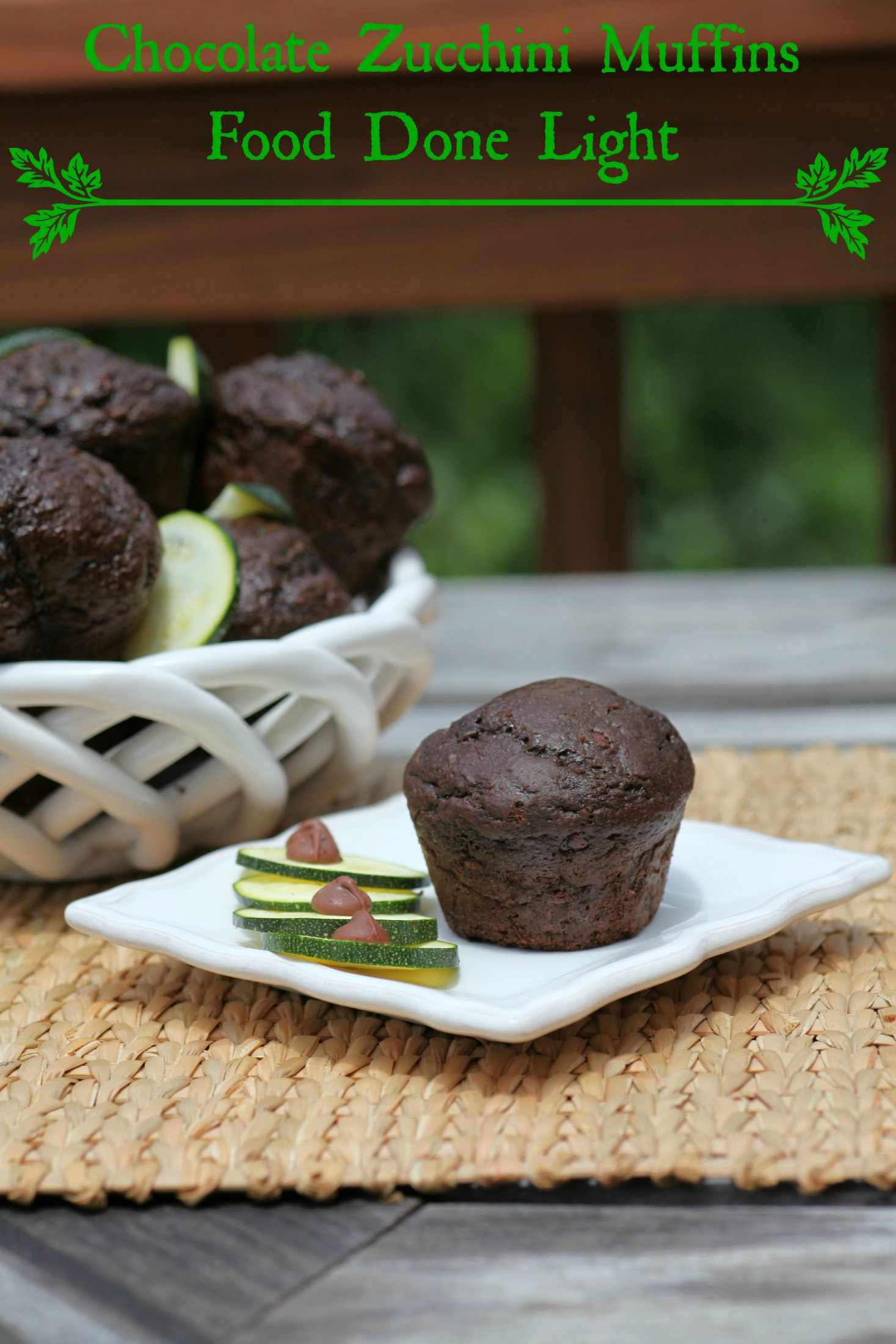 Chocolate Zucchini Muffins  Chocolate Zucchini Muffins