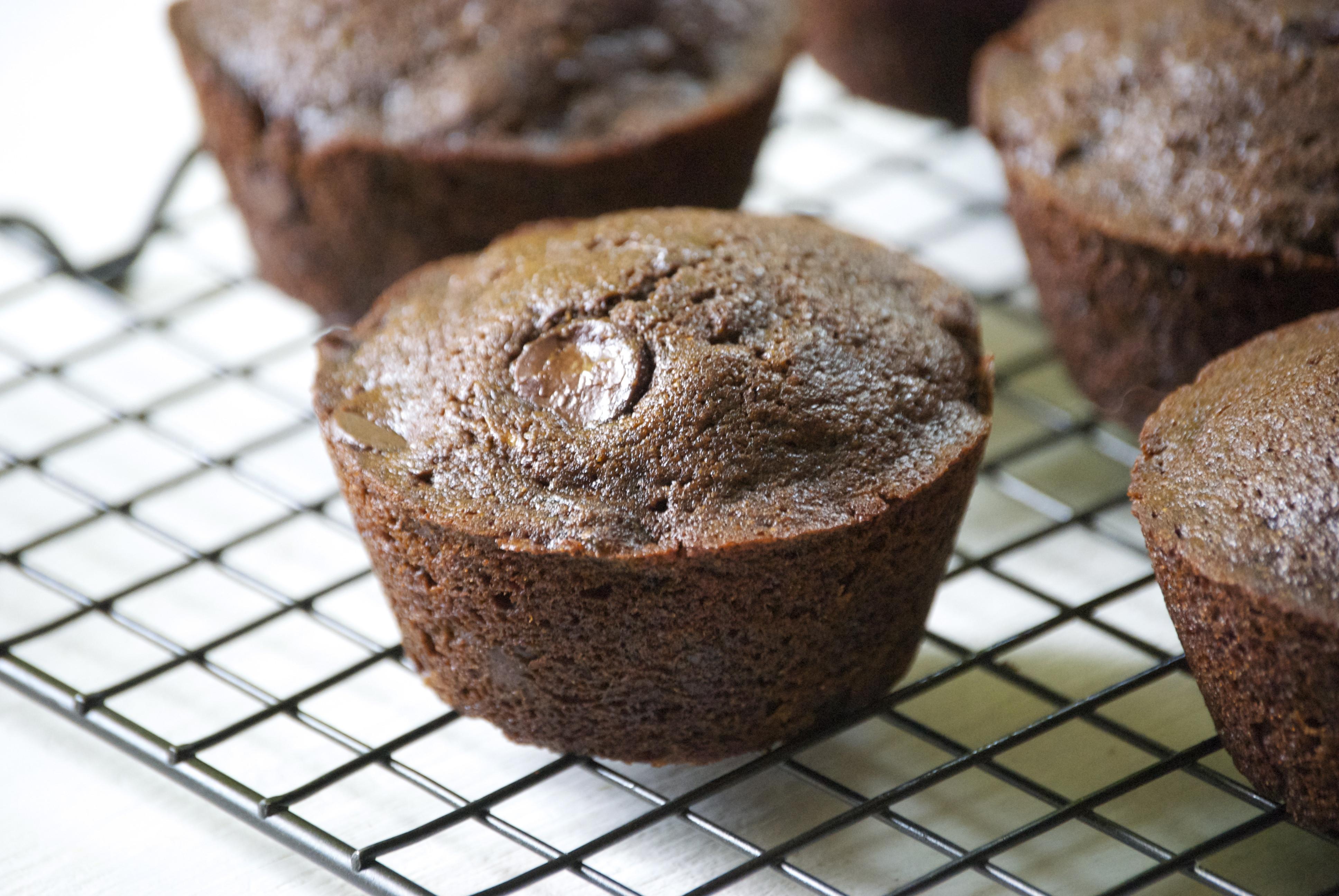 Chocolate Zucchini Muffins  Healthy Chocolate Zucchini Muffins