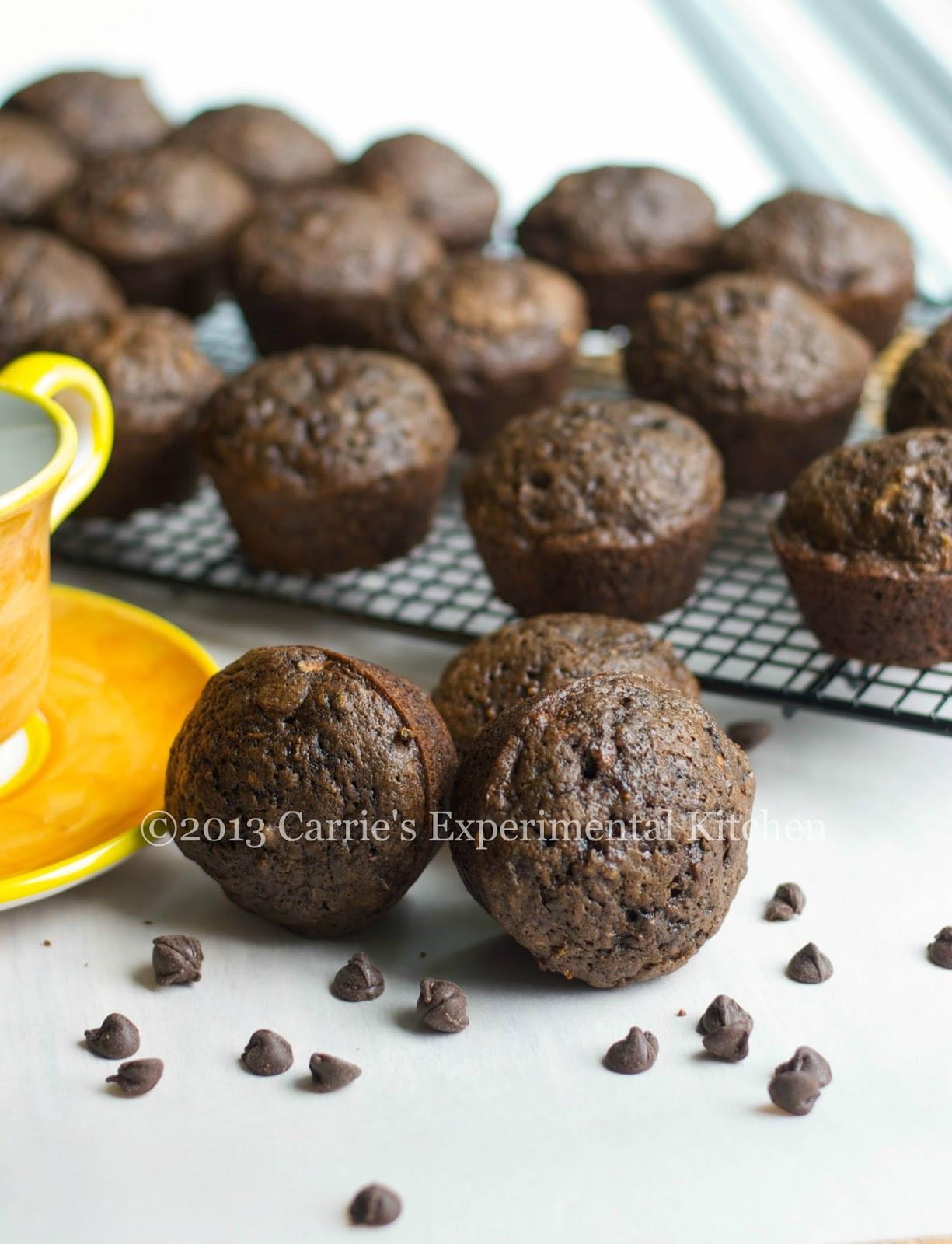 Chocolate Zucchini Muffins  Carrie s Experimental Kitchen Triple Chocolate Zucchini