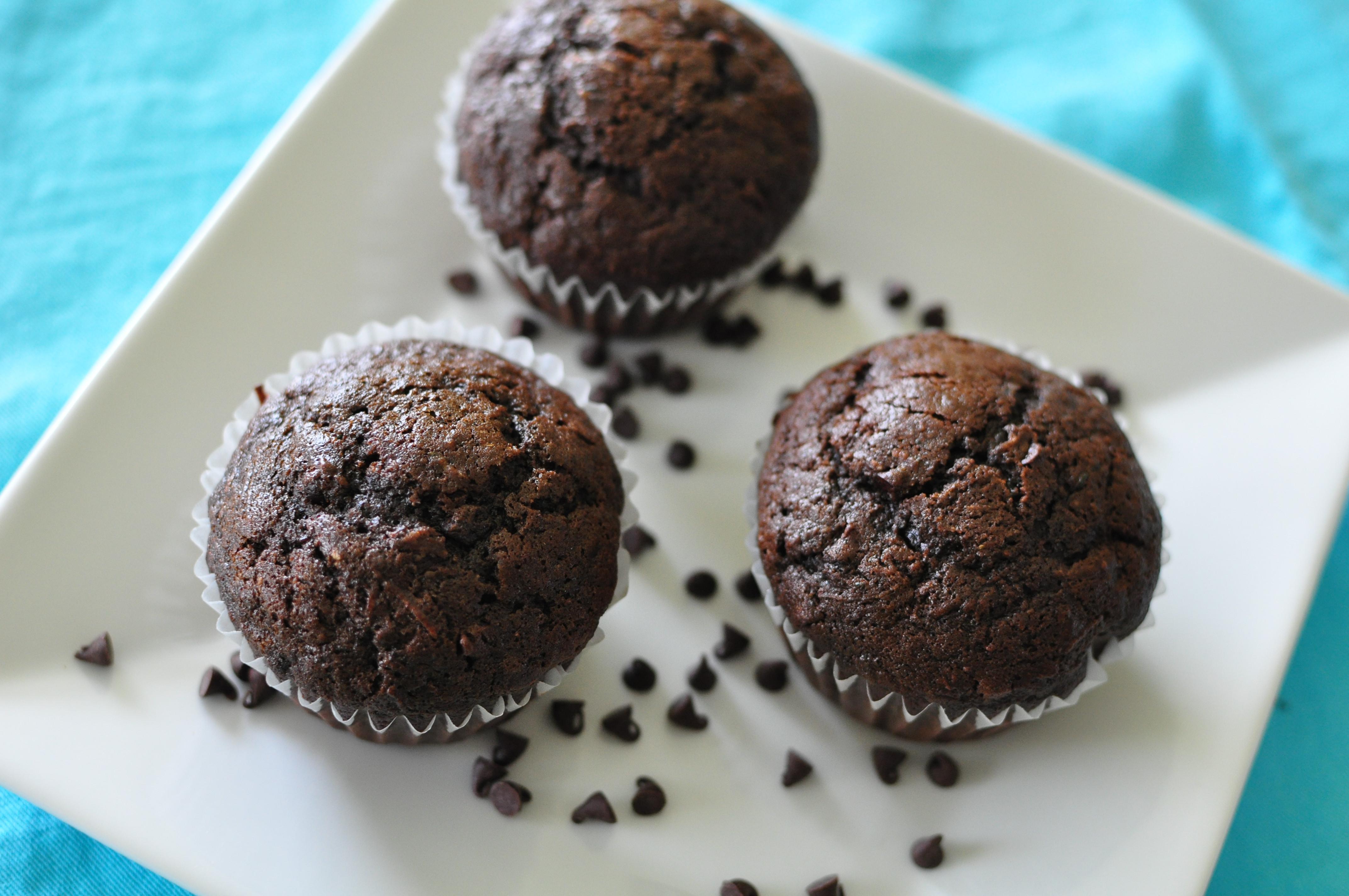 Chocolate Zucchini Muffins  Chocolate Zucchini Muffins Meg s Everyday Indulgence