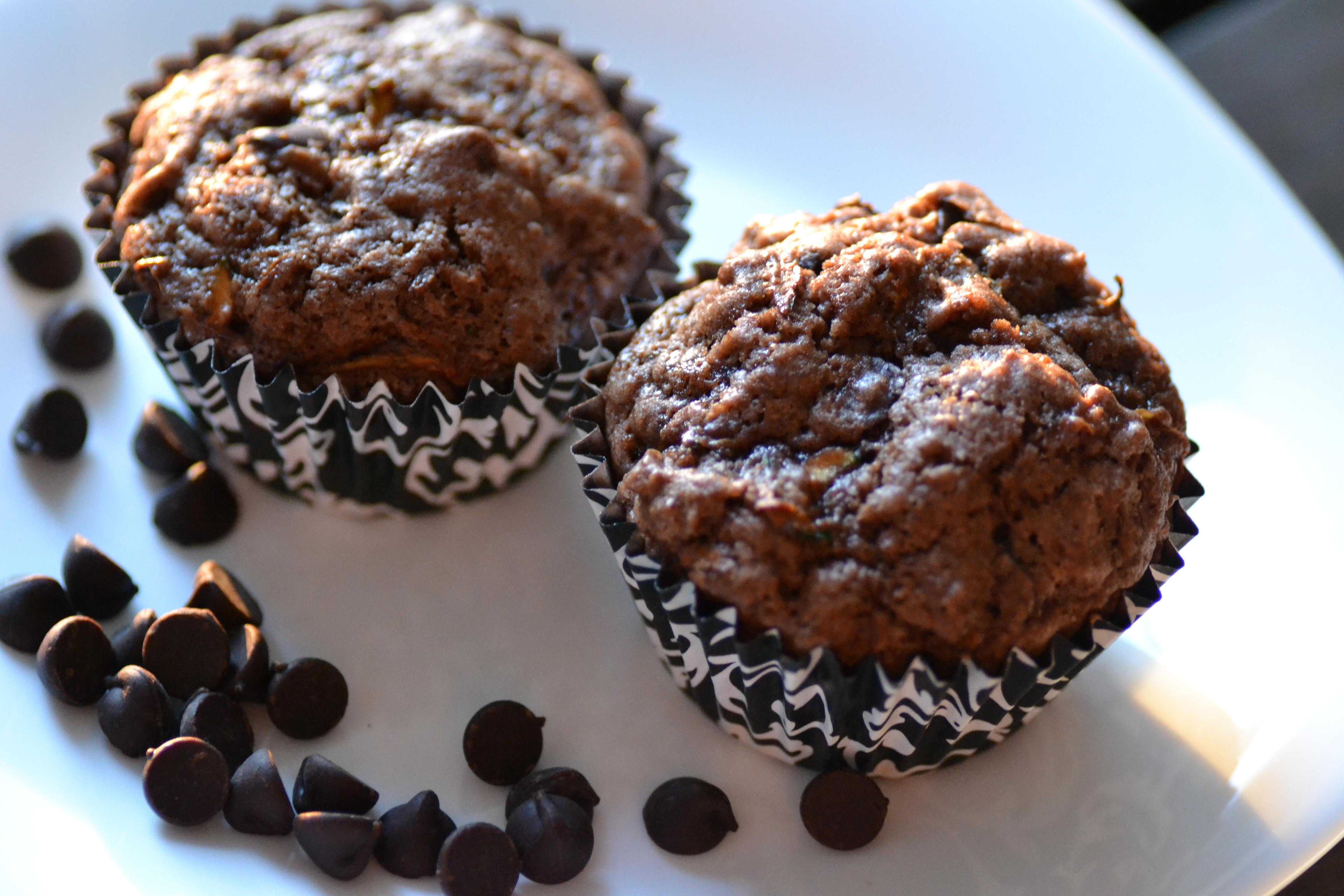 Chocolate Zucchini Muffins  Double Chocolate Zucchini Muffins Warm Vanilla Sugar