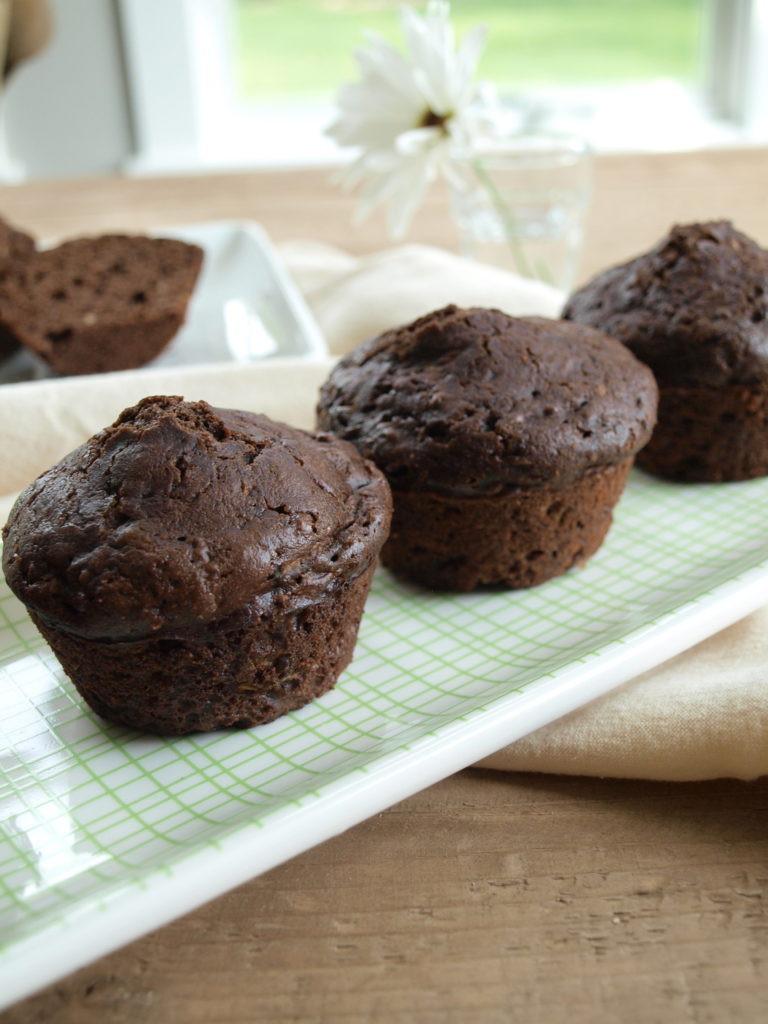 Chocolate Zucchini Muffins  Whole wheat chocolate zucchini muffins Happy Healthy Mama