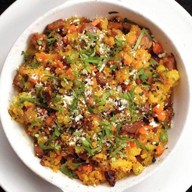 Chorizo Cornbread Stuffing  14 Celebrity Chefs' Favorite Thanksgiving Recipes