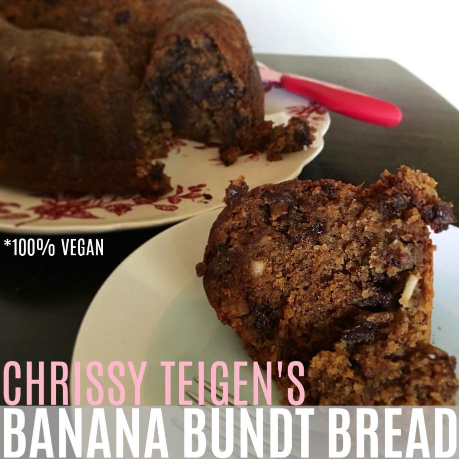 Chrissy Teigen Banana Bread  vanilla pudding banana bread chrissy teigen