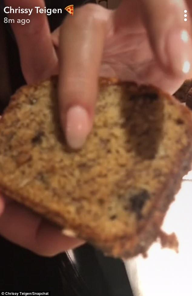 Chrissy Teigen Banana Bread  Chrissy Teigen shares her banana bread recipe with fans
