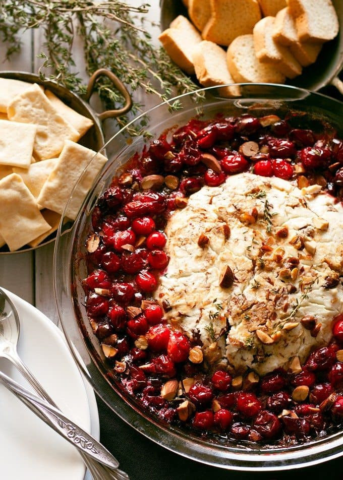 Christmas Brunch Appetizers  Baked Goat Cheese Roasted Cranberry Appetizer Recipe