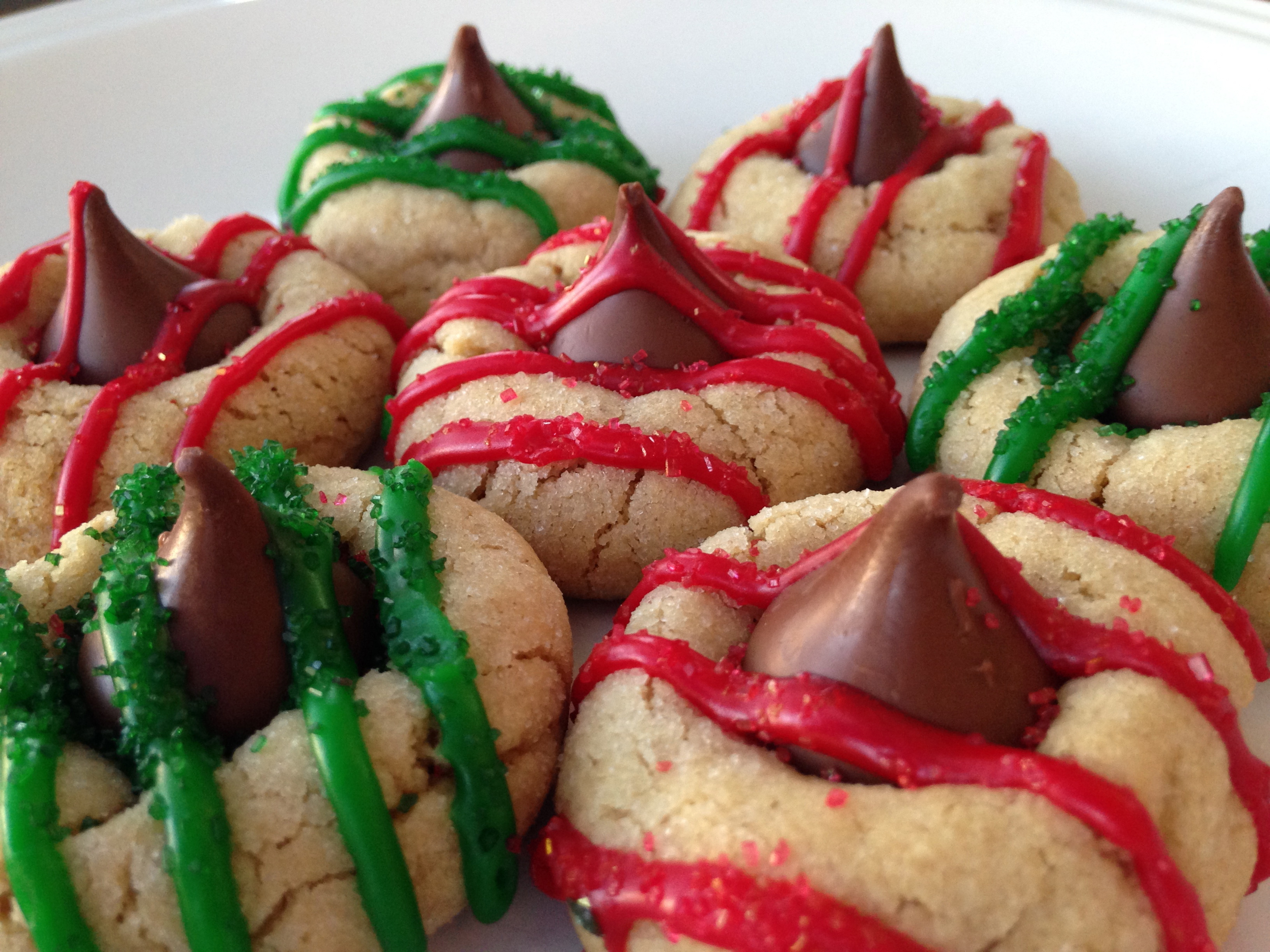 Christmas Butter Cookies  Peanut Butter Kiss Holiday Cookies