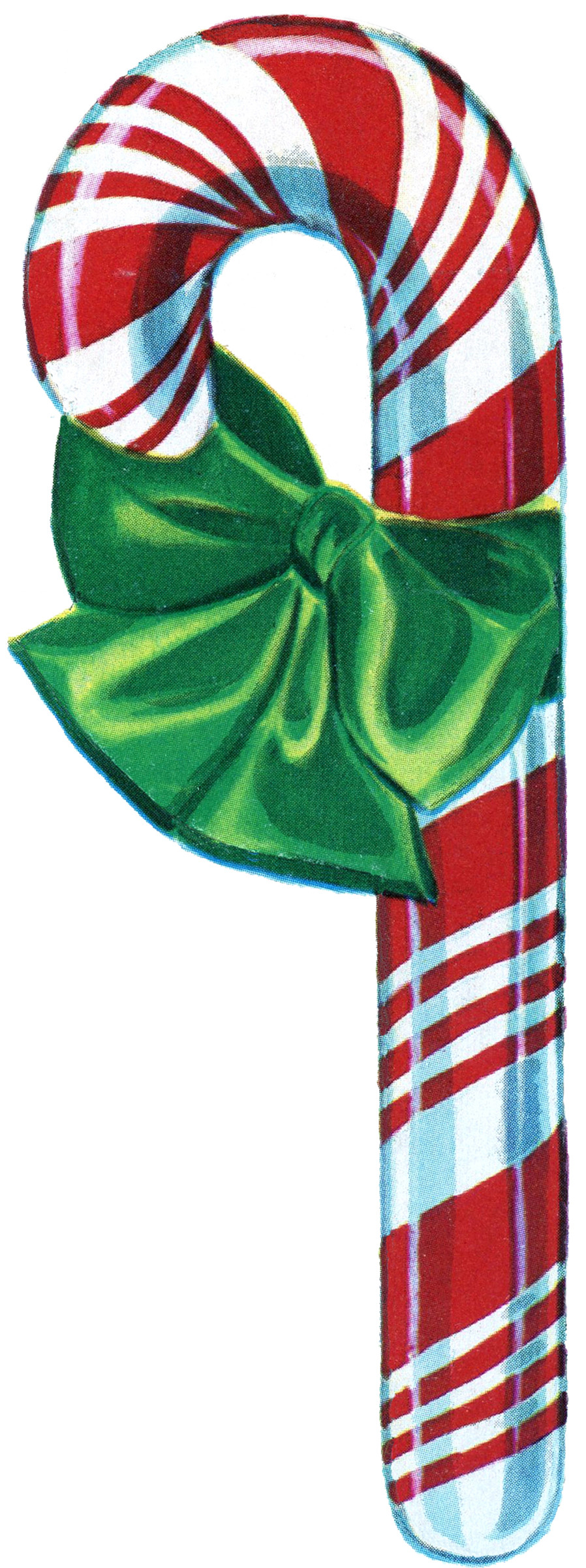 Christmas Candy Cane  Free Vintage Christmas Clip Art Candy Cane The