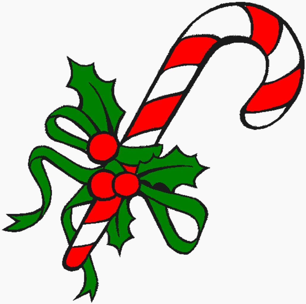 Christmas Candy Cane  Juleklip kravlenisser og skabeloner