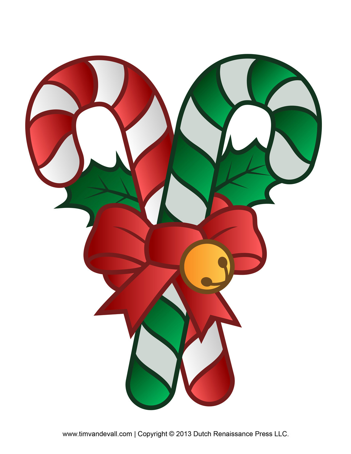 Christmas Candy Cane  Free Candy Cane Template Printables Crafts Clipart