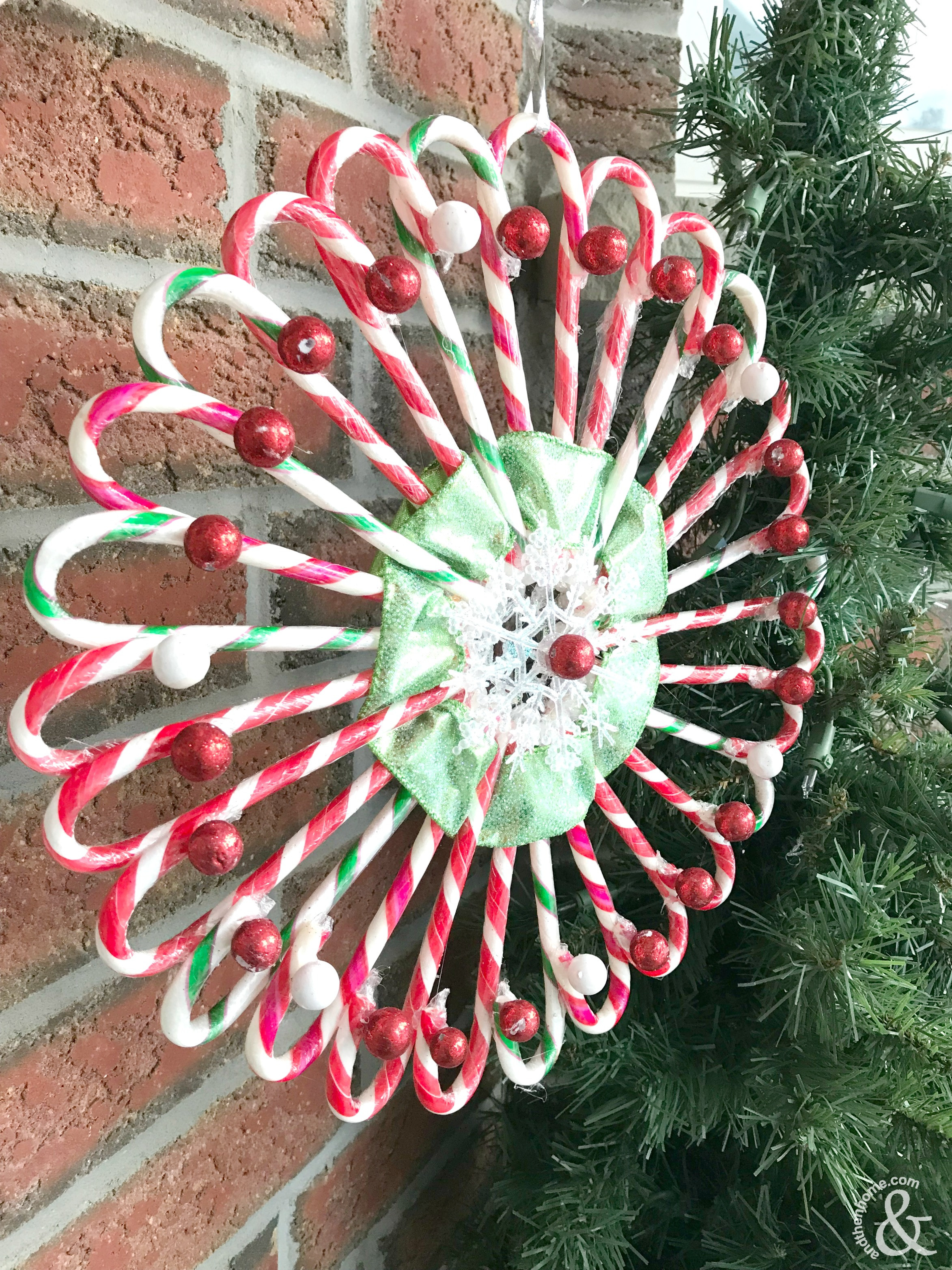 Christmas Candy Cane  DIY Christmas Candy Cane Wreath And Then Home