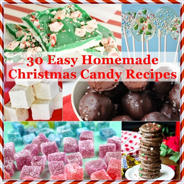 Christmas Candy Recipes  The Domestic Curator 30 Easy Homemade Christmas Candy Recipes