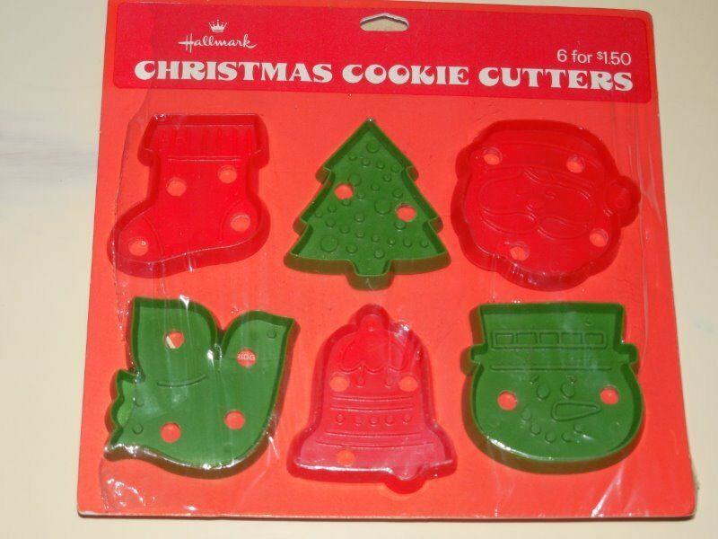 Christmas Cookies Hallmark  Vtg Hallmark Christmas Cookie Cutter Santa Tree Bell Bird