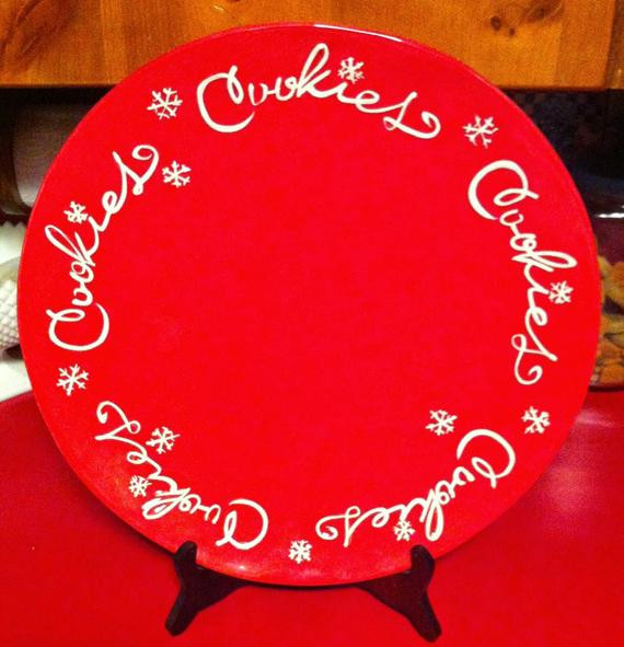 Christmas Cookies Hallmark  Hallmark Christmas Cookie Platter by thechickencooptoo on Etsy