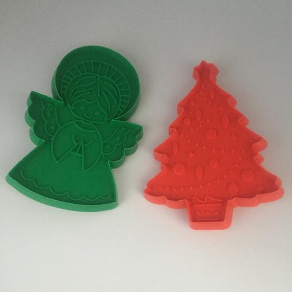 Christmas Cookies Hallmark  Hallmark Christmas Cookie Cutters Vintage Christmas Cookie