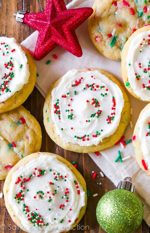 Christmas Cookies Recipes With Pictures  Funfetti Cookies Supreme Sallys Baking Addiction