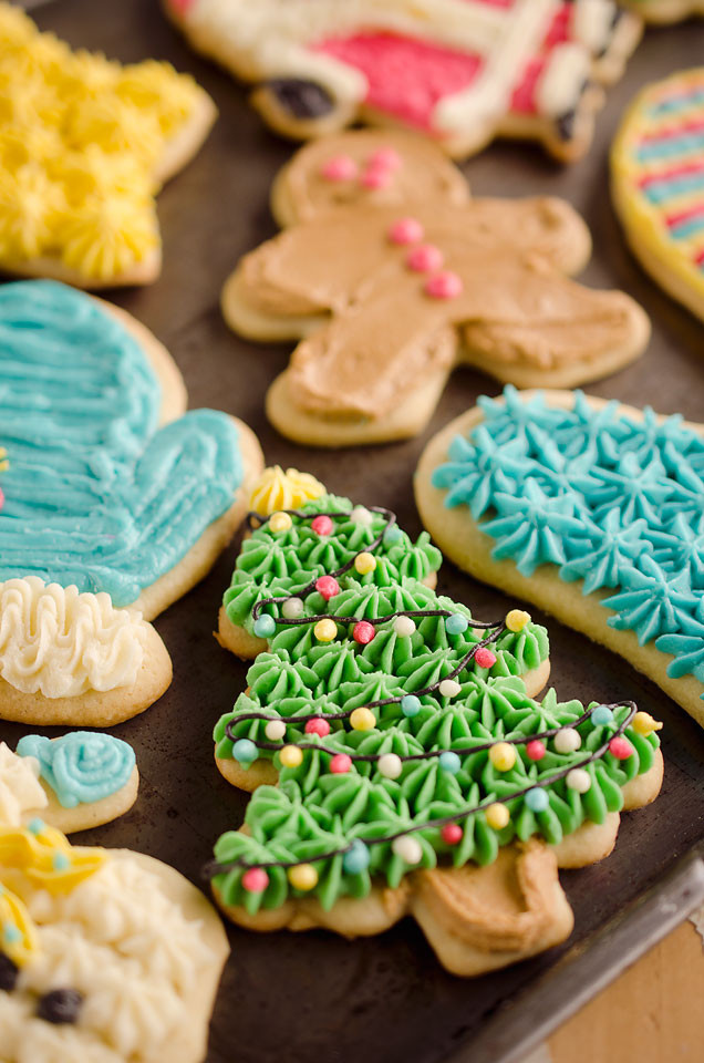 Christmas Cut Out Cookies  Old Fashion Sour Cream Cut Out Cookies