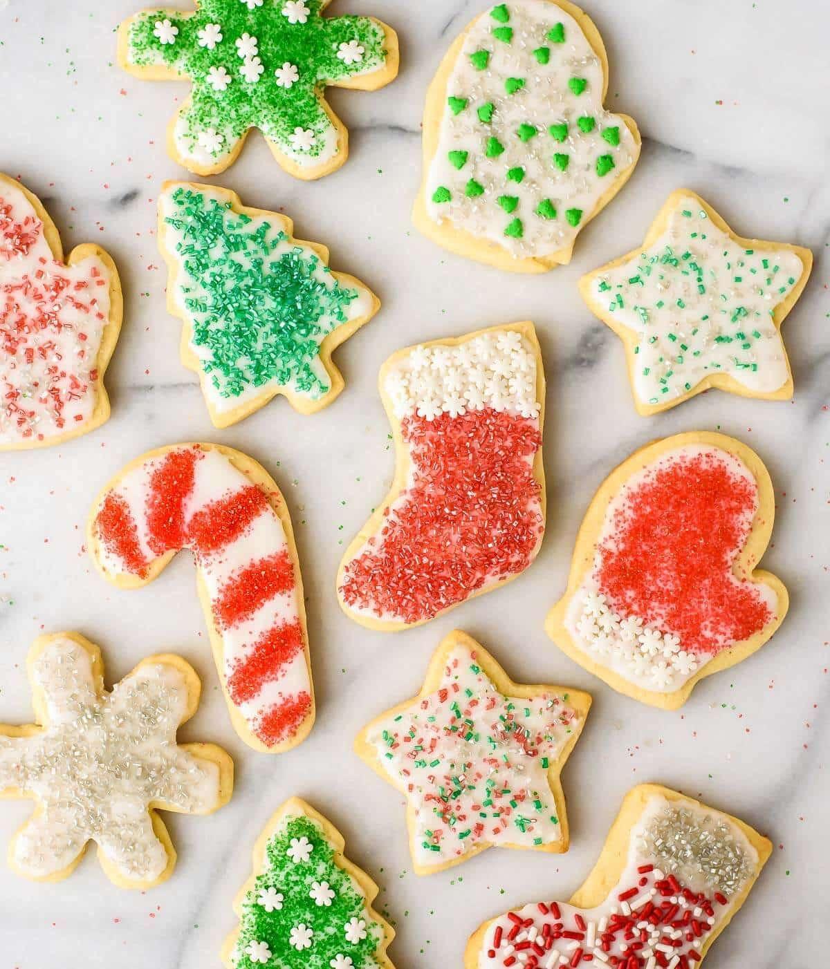 Christmas Cut Out Cookies  Cream Cheese Sugar Cookies Recipe