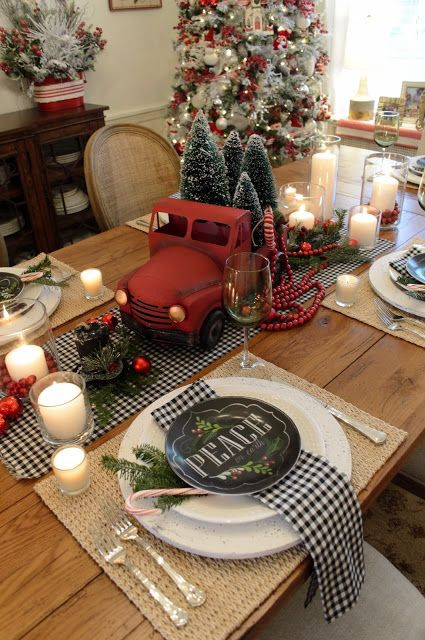 Christmas Dinner Ideas 2017  Ideas to decorate your table at the Christmas dinner 2017 2018