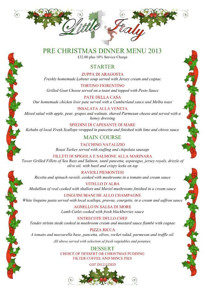 Christmas Dinner Menu Ideas  20 Mouth Watering Christmas Dinner Menu