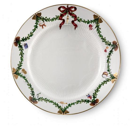 Christmas Dinner Plates  Royal Copenhagen Star Fluted Christmas Dinner Plate at