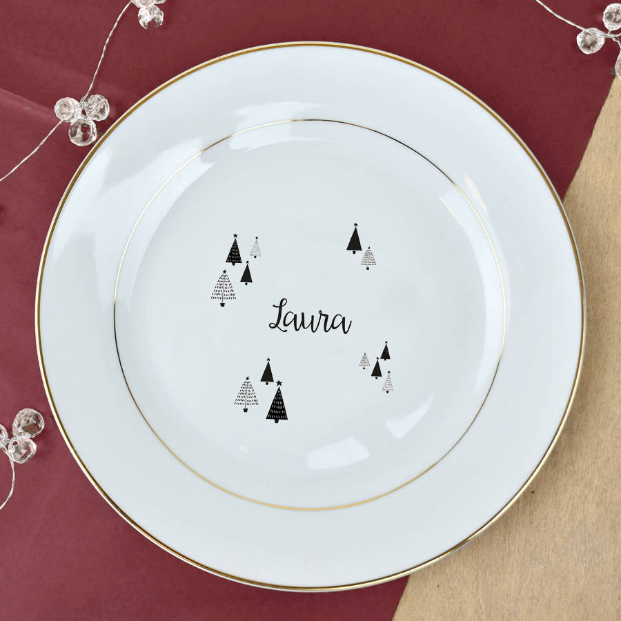 Christmas Dinner Plates  christmas dinner personalised gold plate by ellie ellie