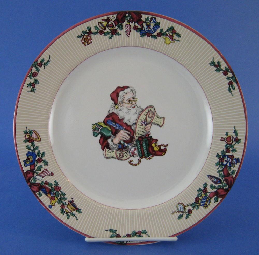 Christmas Dinner Plates  Fitz and Floyd Santa s List Dinner Plate Christmas Santa