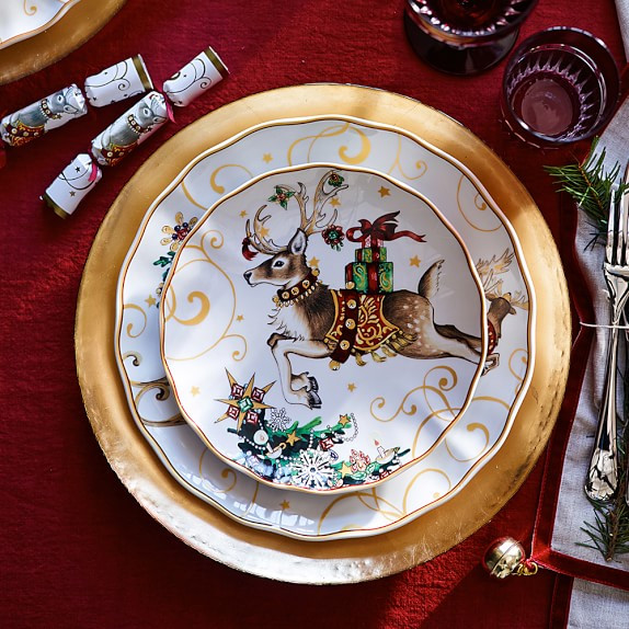Christmas Dinner Plates  Twas The Night Before Christmas Dinner Plates Santa Set