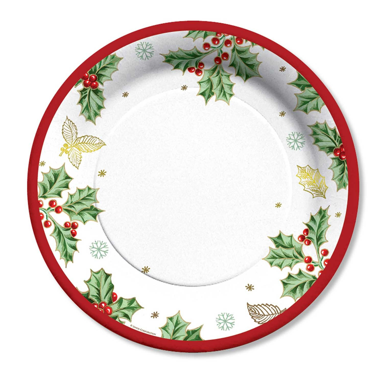 """Christmas Dinner Plates  Holiday Dinner Paper Plates """"Treasured Traditions"""" 10 5"""