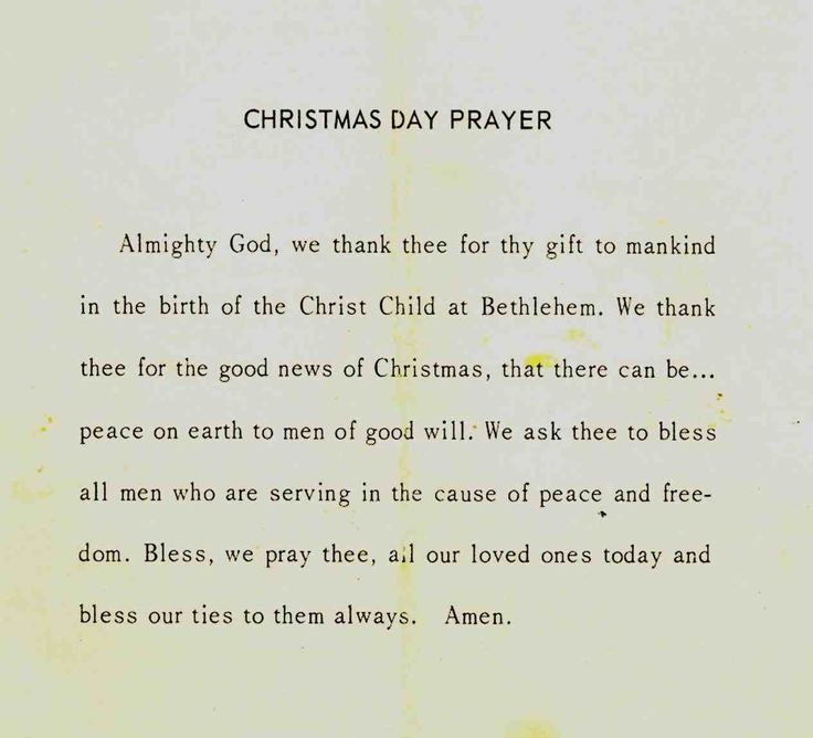 Christmas Dinner Prayer  Christmas Dinner Prayer