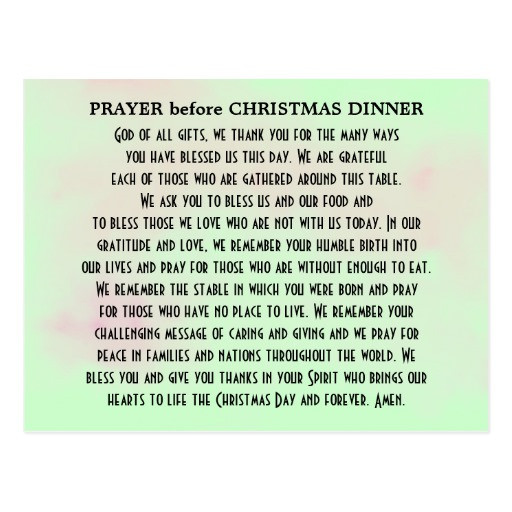 Christmas Dinner Prayer  Christmas Prayer Quotes QuotesGram