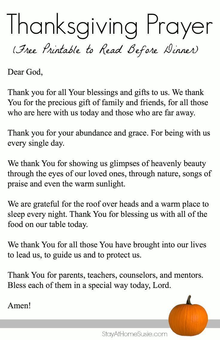 Christmas Dinner Prayer  Thanksgiving Prayer Thanksgivings