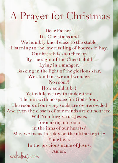 Christmas Dinner Prayer  A Prayer for Christmas Day RachelWojo