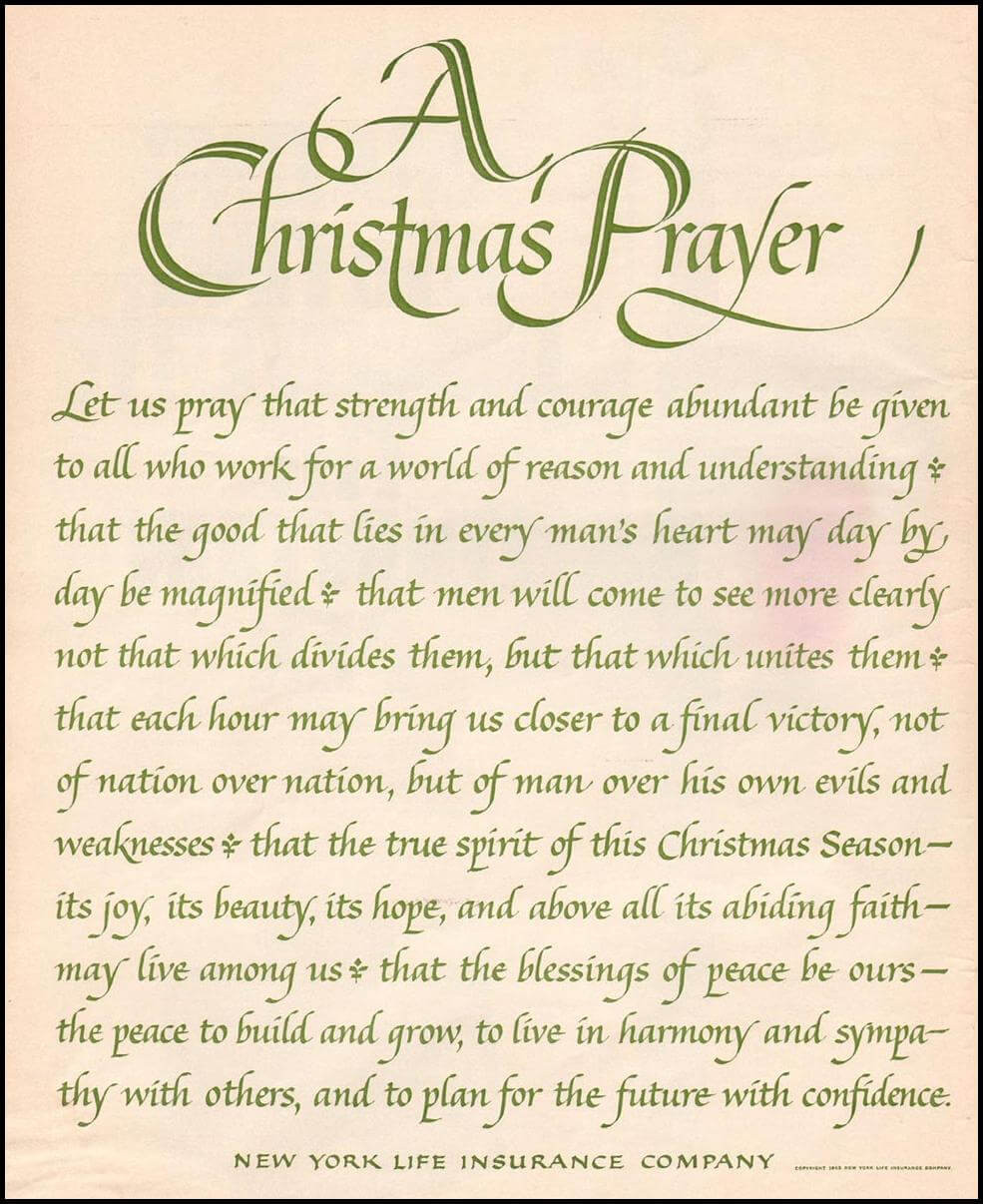 Christmas Dinner Prayer  Short Christmas Prayers For Family & Kids Christmas