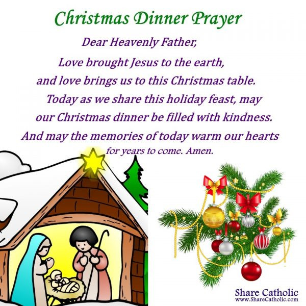 Christmas Dinner Prayer  A Christmas Dinner Prayer