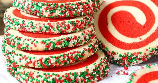 Christmas Pinwheel Cookies  Christmas Pinwheel Sugar Cookies With VIDEO