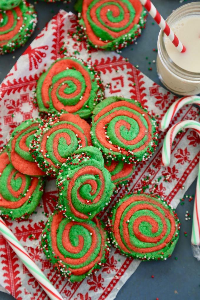 Christmas Pinwheel Cookies  Christmas Pinwheel Cookies The Seaside Baker