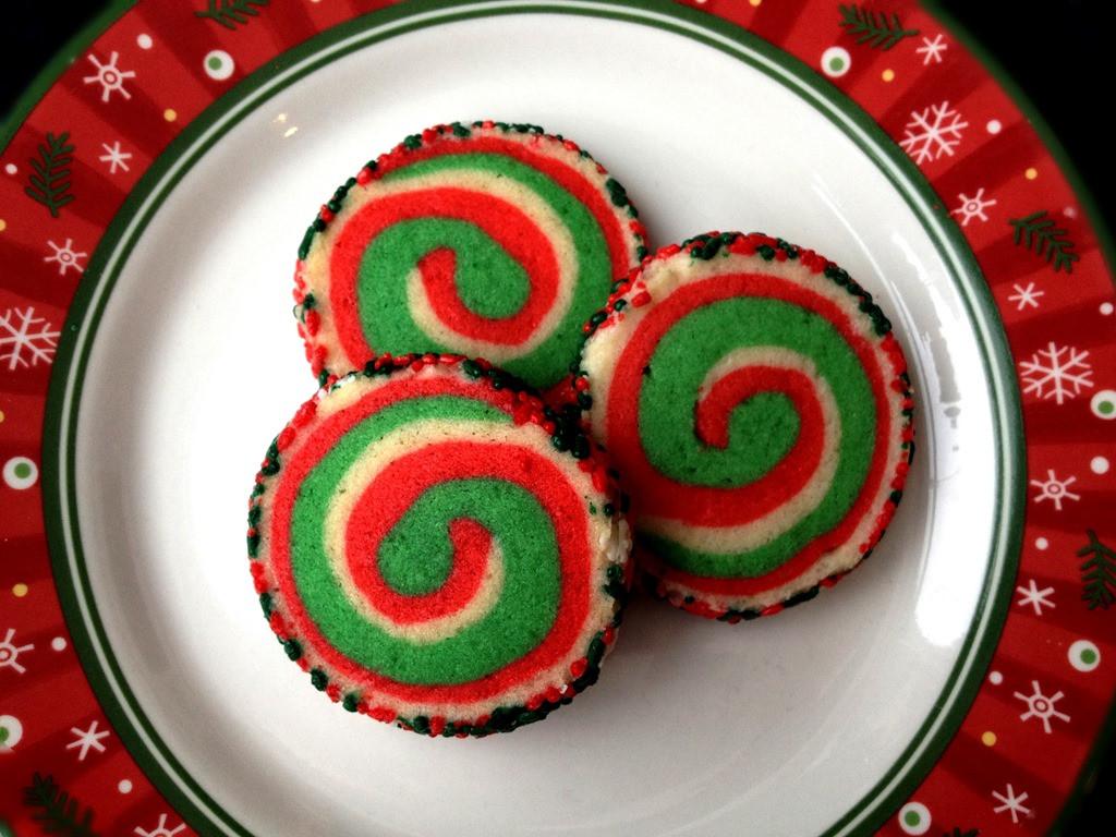 Christmas Pinwheel Cookies  Twelve Days of Christmas Cookies Pinwheel Cookies